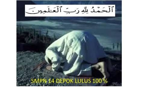 SMPN 14 DEPOK LULUS 100 %